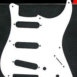 Genuine Fender Vintage-Style 50's Stratocaster Pickguard 8-Hole Single Ply White