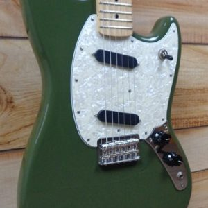 Fender® Mustang® Maple Fingerboard Electric Guitar Olive